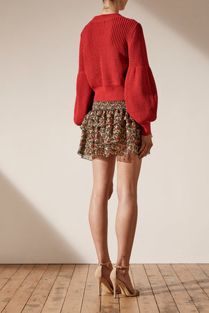 Warner Cable Knit Cropped Sweater