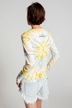 Moblack Mind Frequencies Fitted Fern Longsleeve Tee Tie Dye