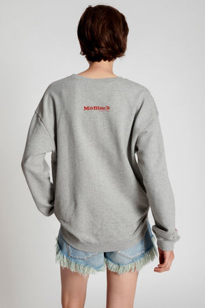 Moblack Mind Frequencies Chilli Sweater Grey Marl