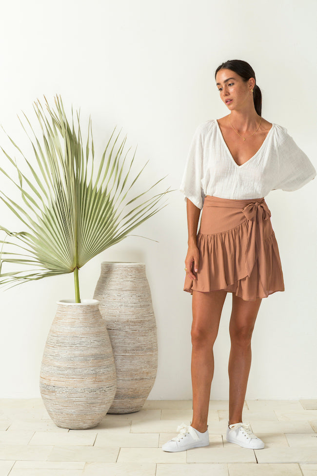 Baby is Back Wrap Skirt Cinnamon