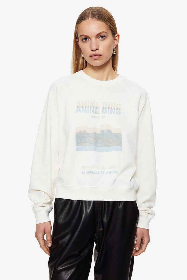 Arlo Sweatshirt Desert Road White