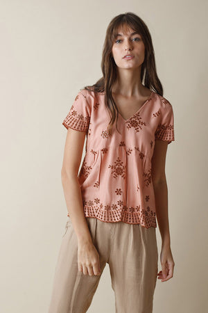 Eyelet Top Grapefruit