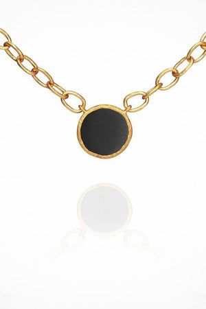 Aegean Onyx Necklace Gold