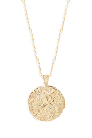 Gold Aquarius Necklace