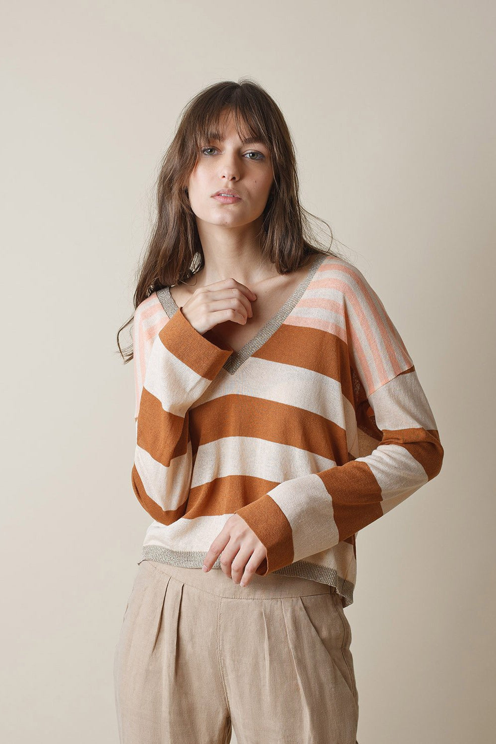 Stripe Knit Jersey