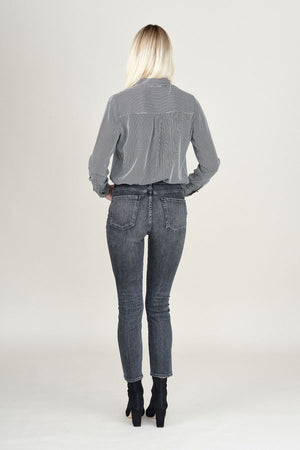Olivia High Rise Slim Fit in Wren