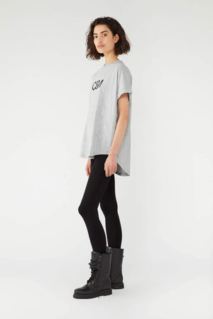 Huntington Logo Slub Tee Grey Marle