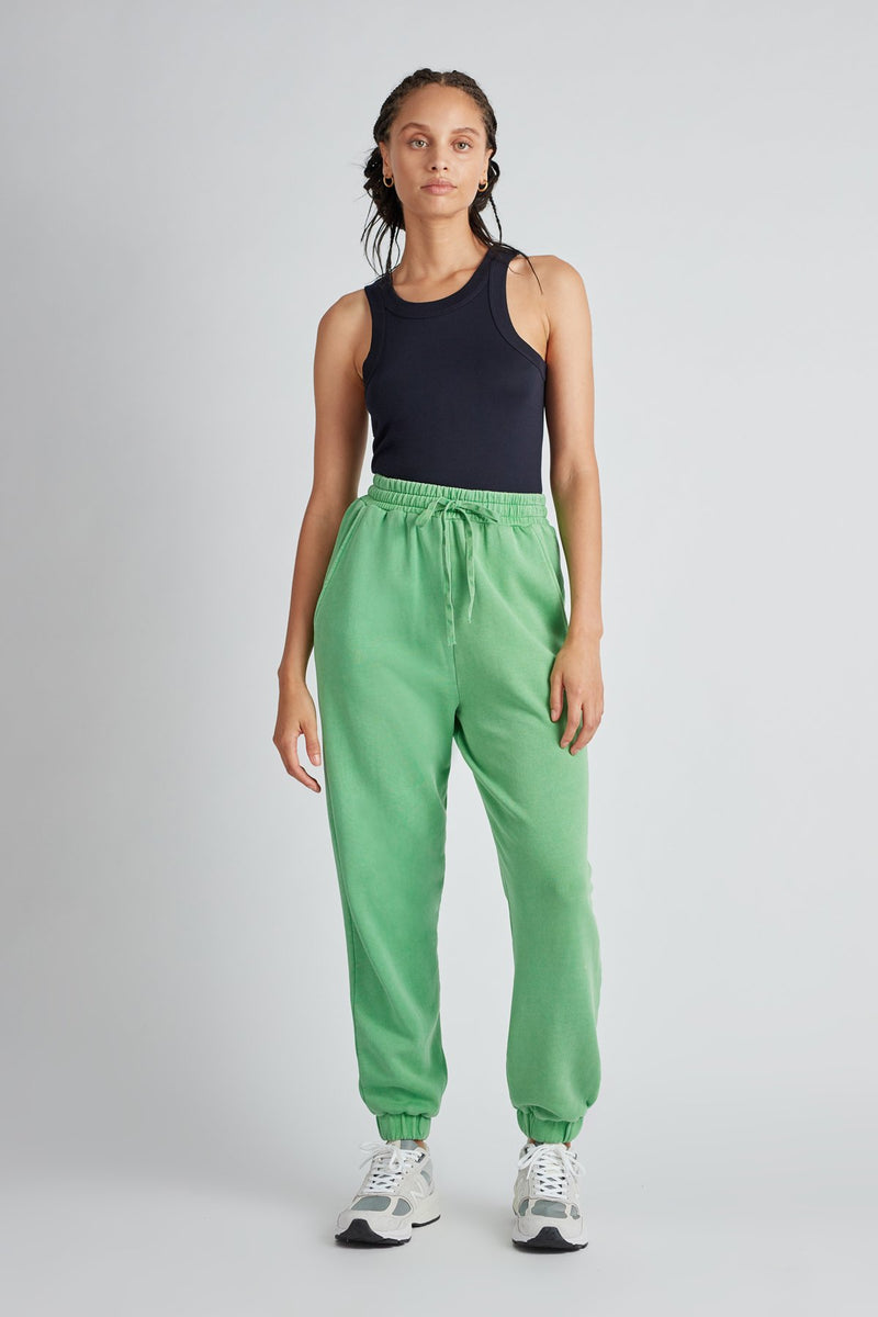Jordan High Waisted Track Pant Apple Green