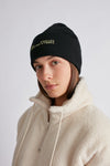 Montauk Beanie Black w/ Yellow