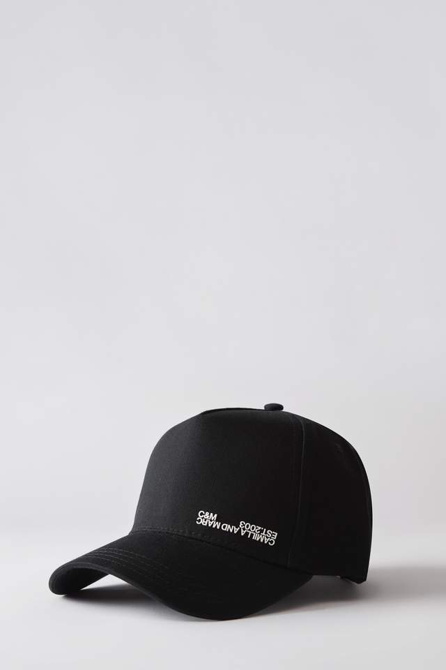 Denver Cap Black w/ White Print