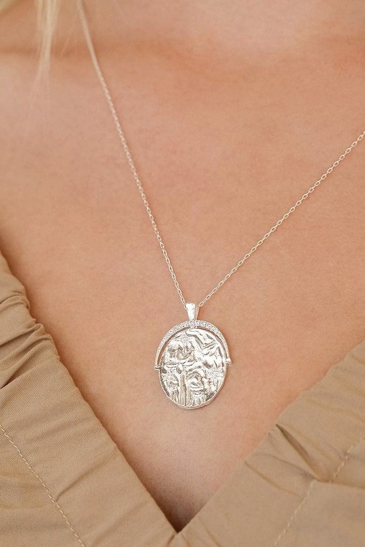 Silver Everything You Are Is Enough Large Necklace