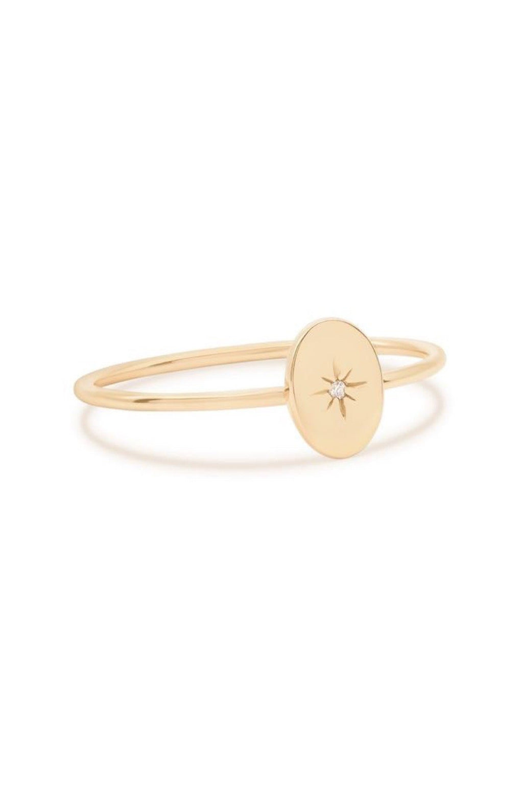 14k Gold Shine Your Light Ring