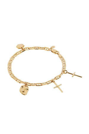 Friend Charm Bracelet Gold