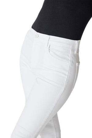 Alana High-Rise Crop Skinny in Blanc