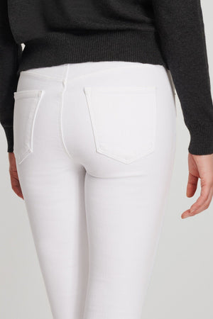 Maria High Rise Skinny in Blanc