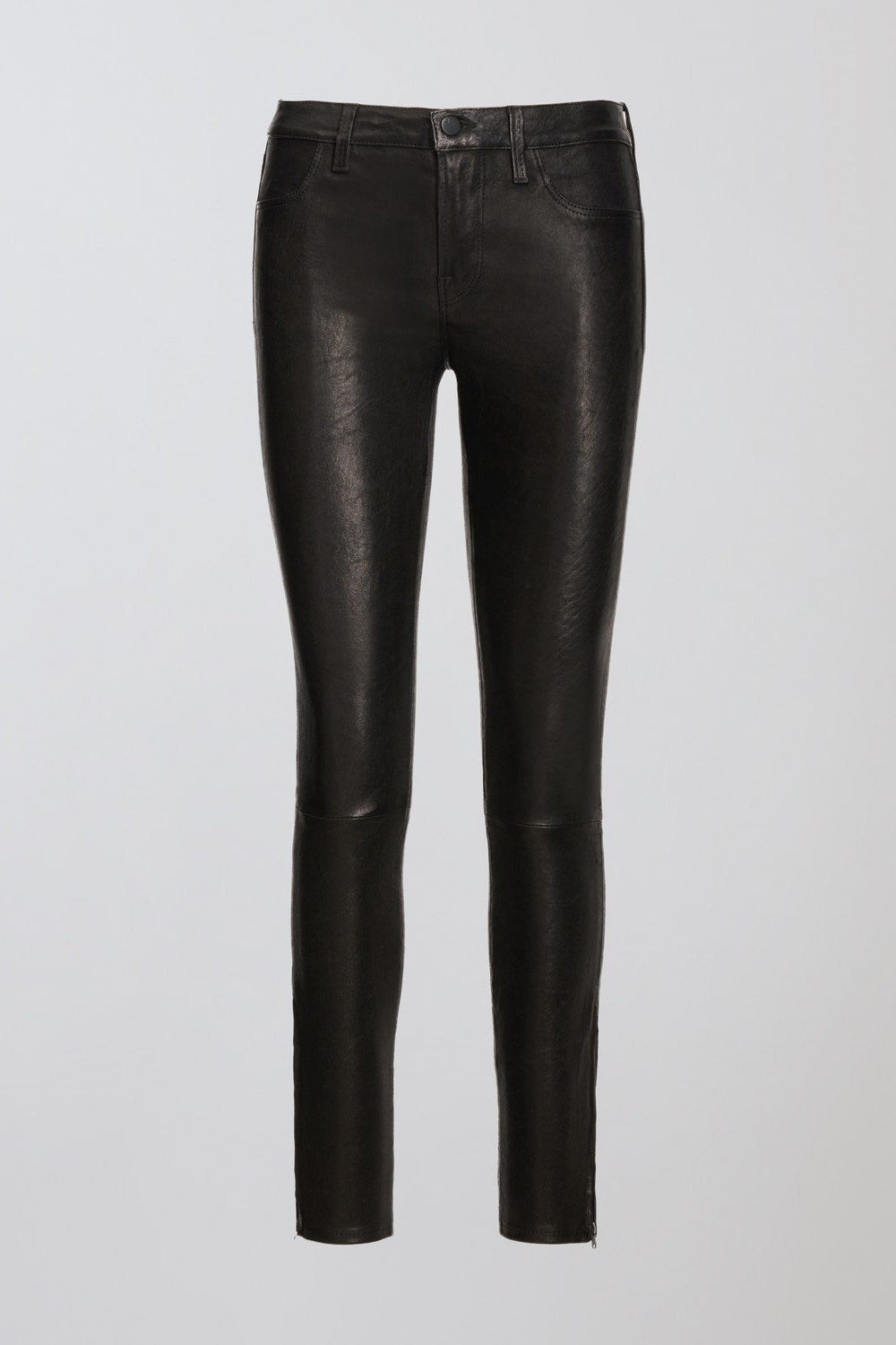 L8001 Mid-Rise Skinny Pant in Noir Leather
