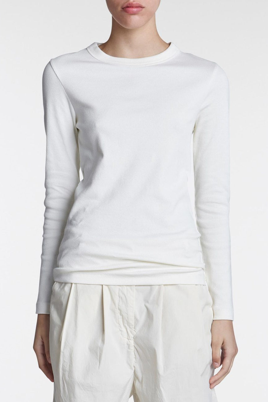 Jed Long Sleeve Tee White