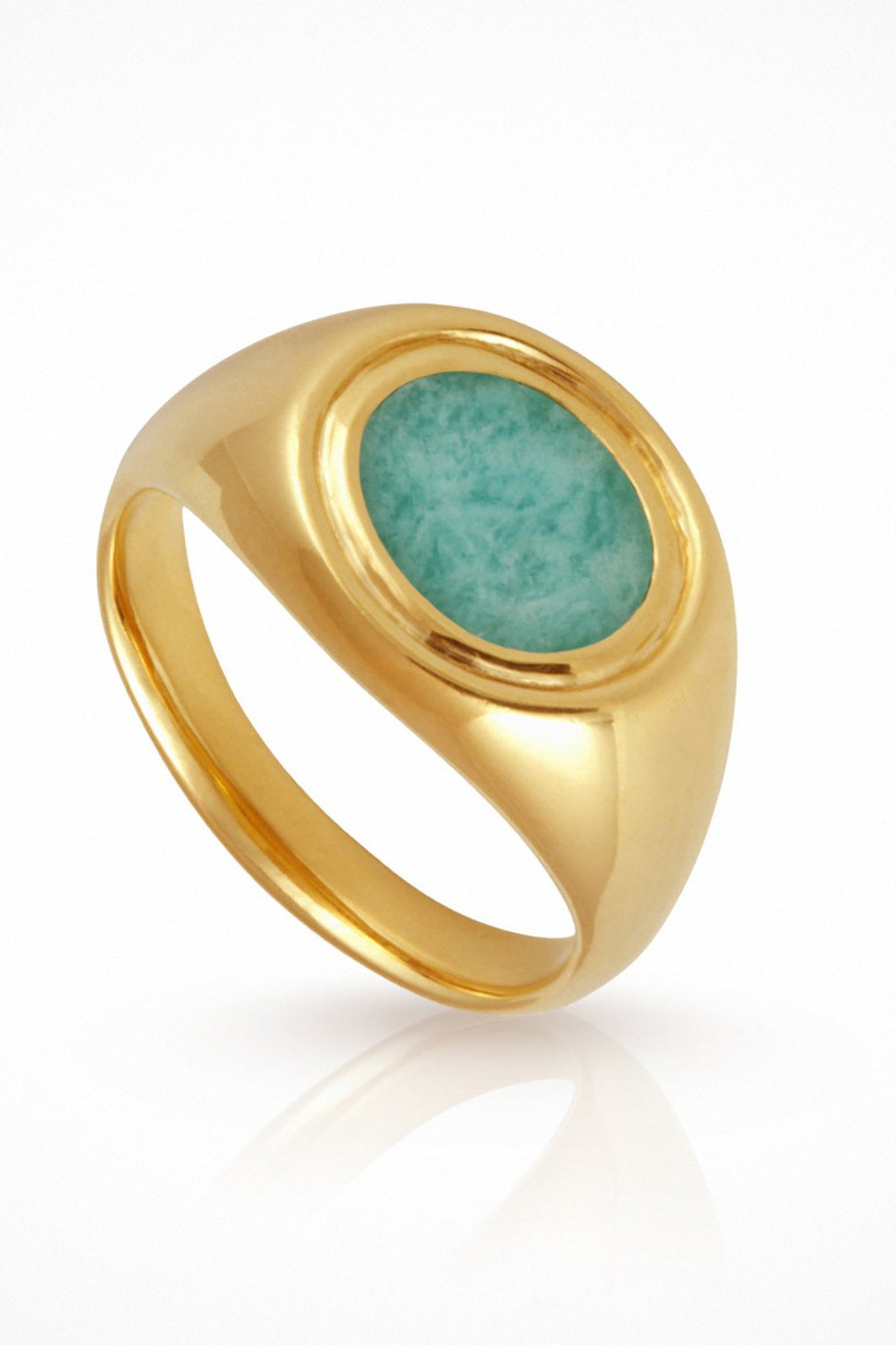 Kosmos Ring Amazonite Gold