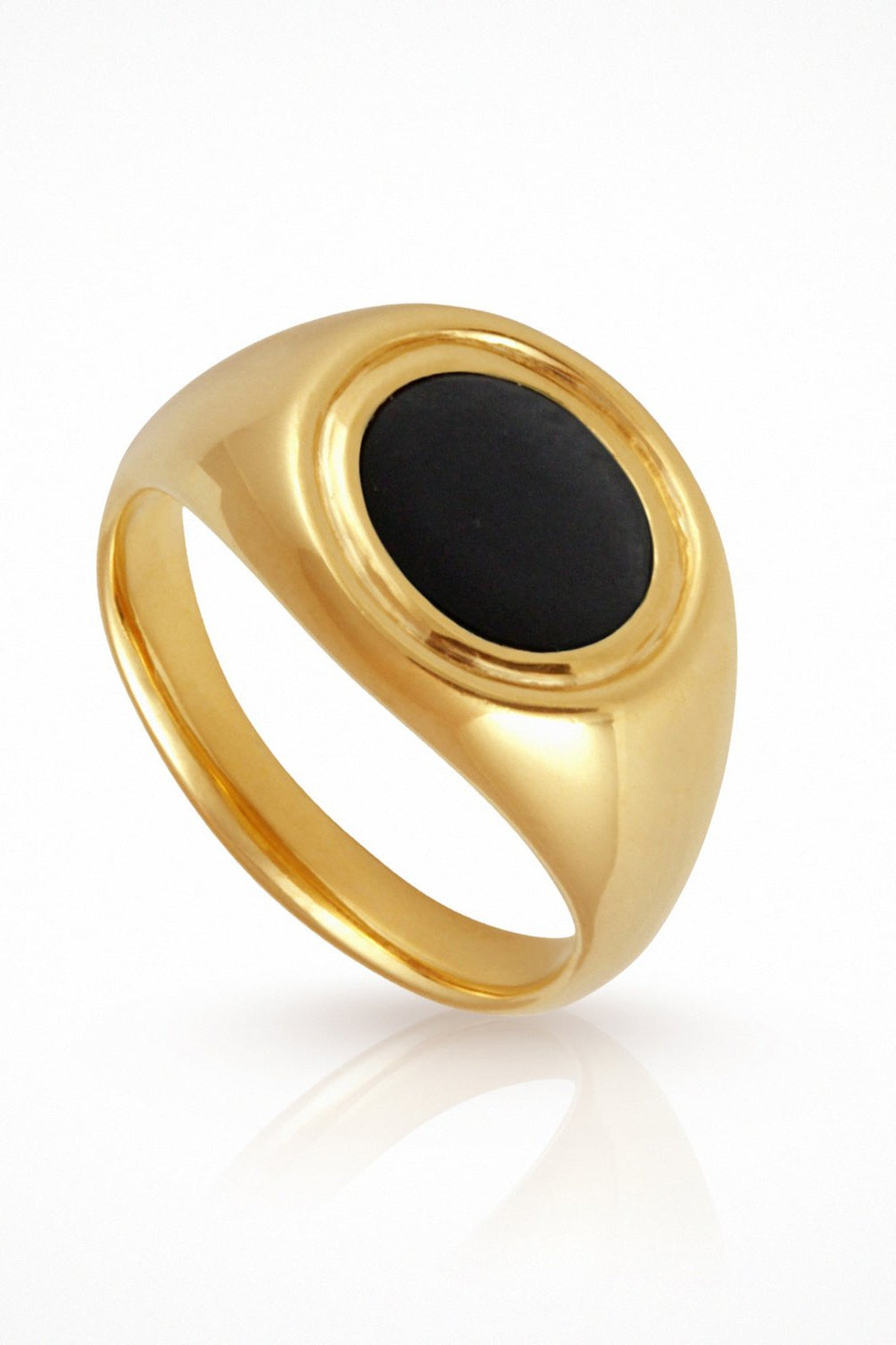 Kosmos Ring Onyx Gold
