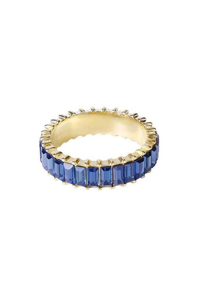 Majestic Blue Crystal Baguette Ring
