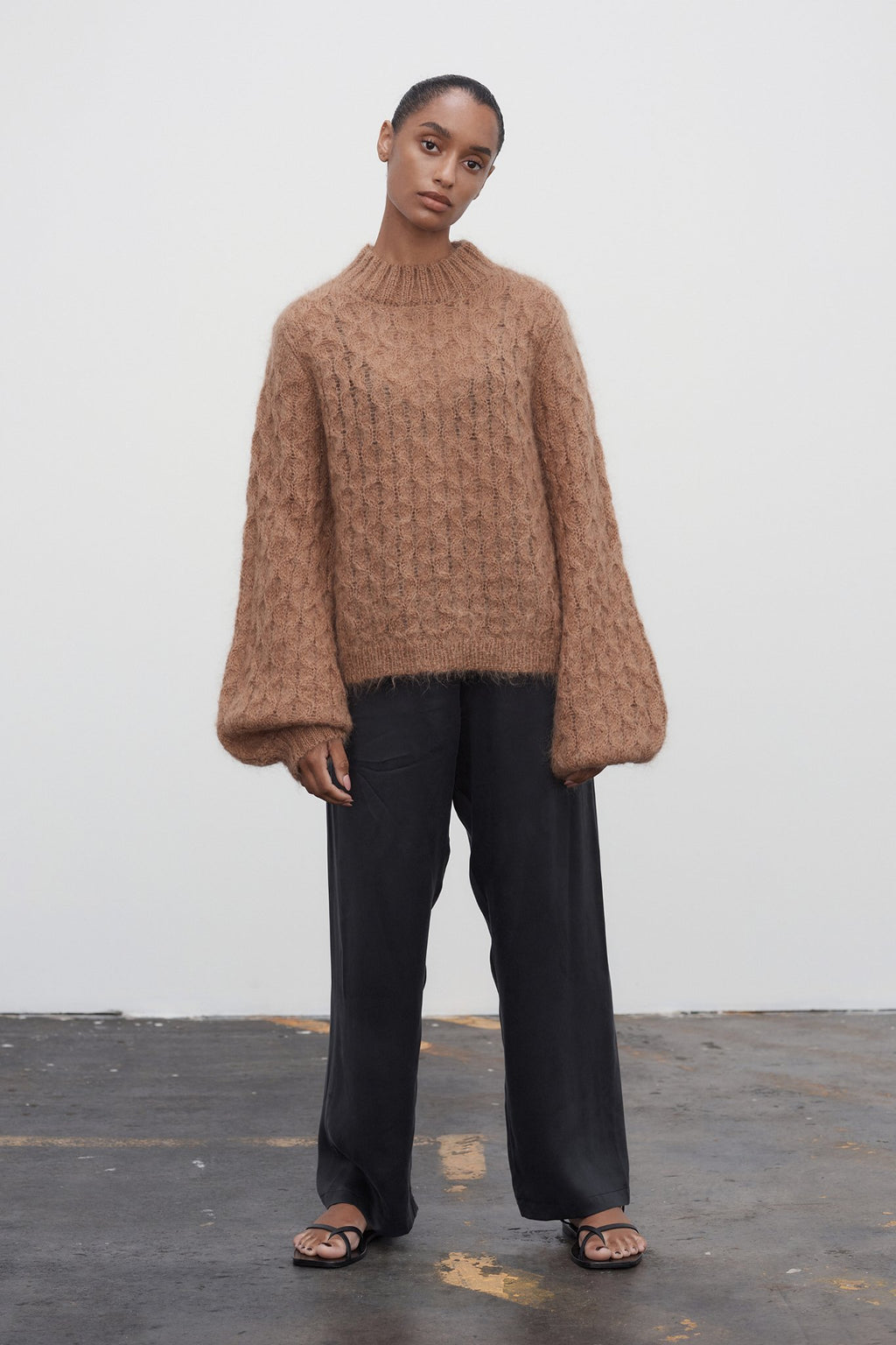 Mimi Jumper Honeycomb Camel