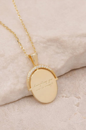 Gold Everything You Are Is Enough Small Necklace