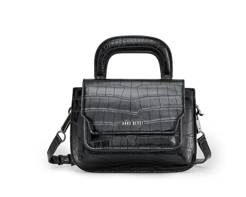 Noir Alligator Reader Satchel