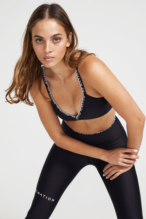 Power Play Sports Bra Black