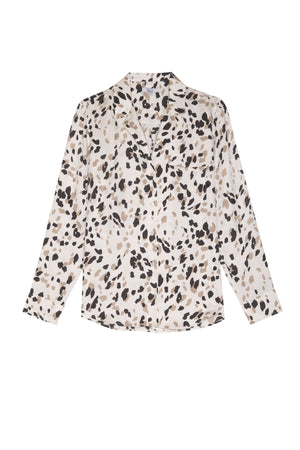 Rebel Silk Shirt Abstract Animal