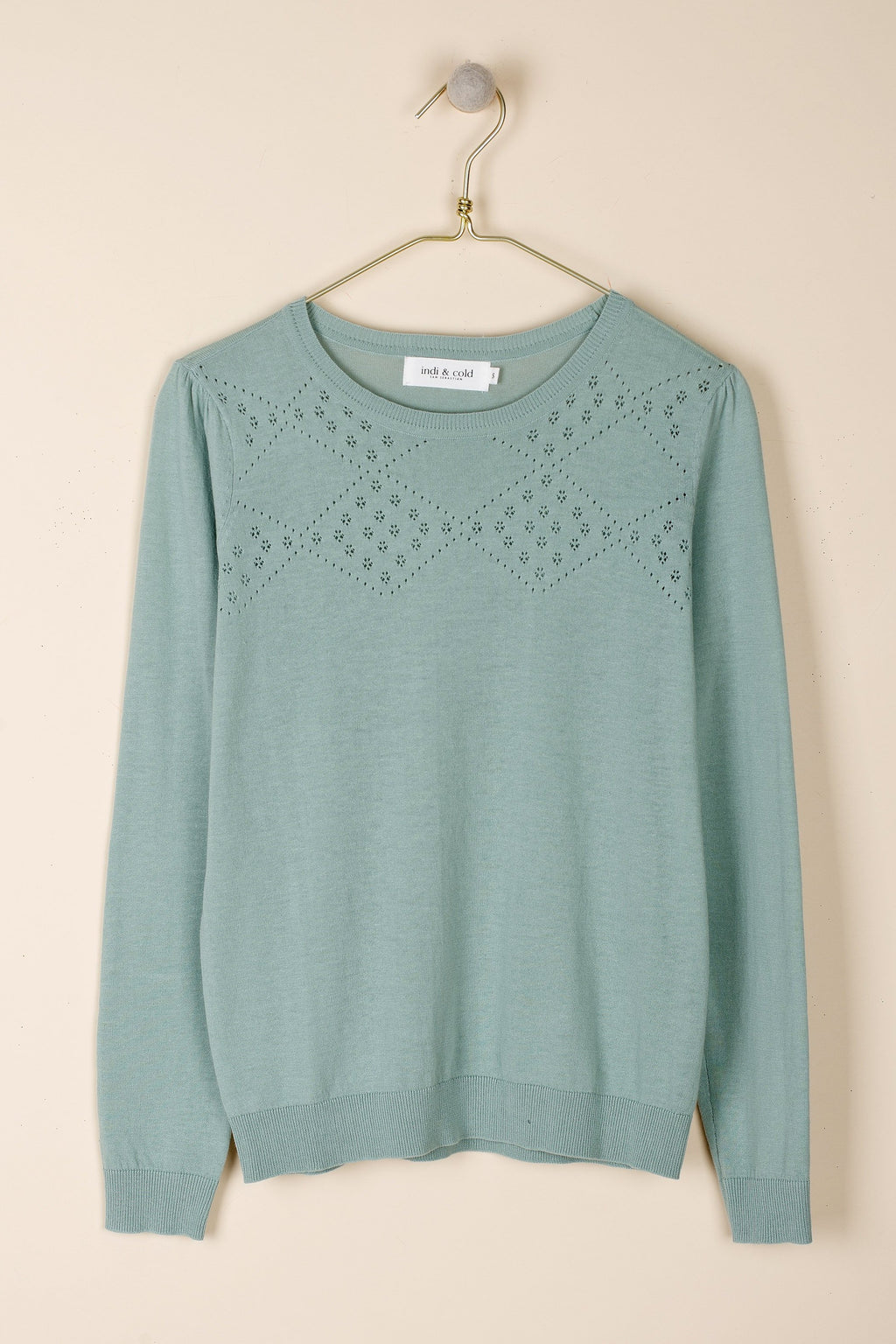 Long Sleeve Knit Top Seafoam
