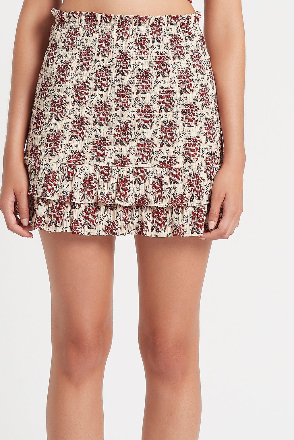 Floré Ruched Mini Skirt