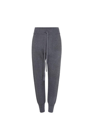 Sidney Tapered Knit Pant Charcoal Marle