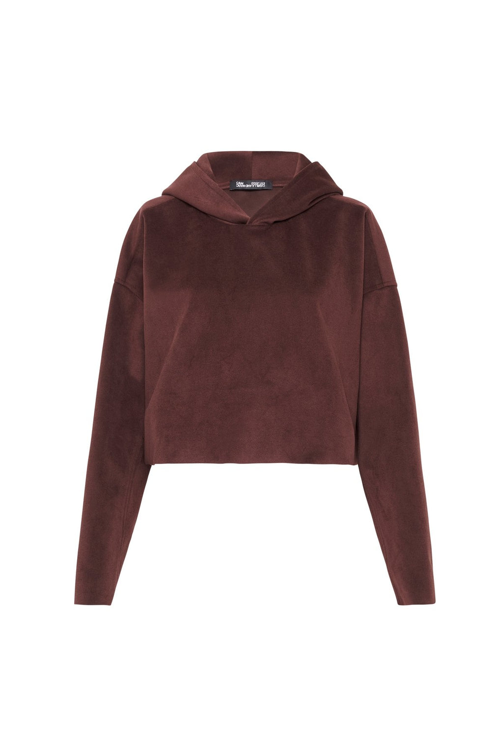 Zaylee Cropped Hoodie Mahogany