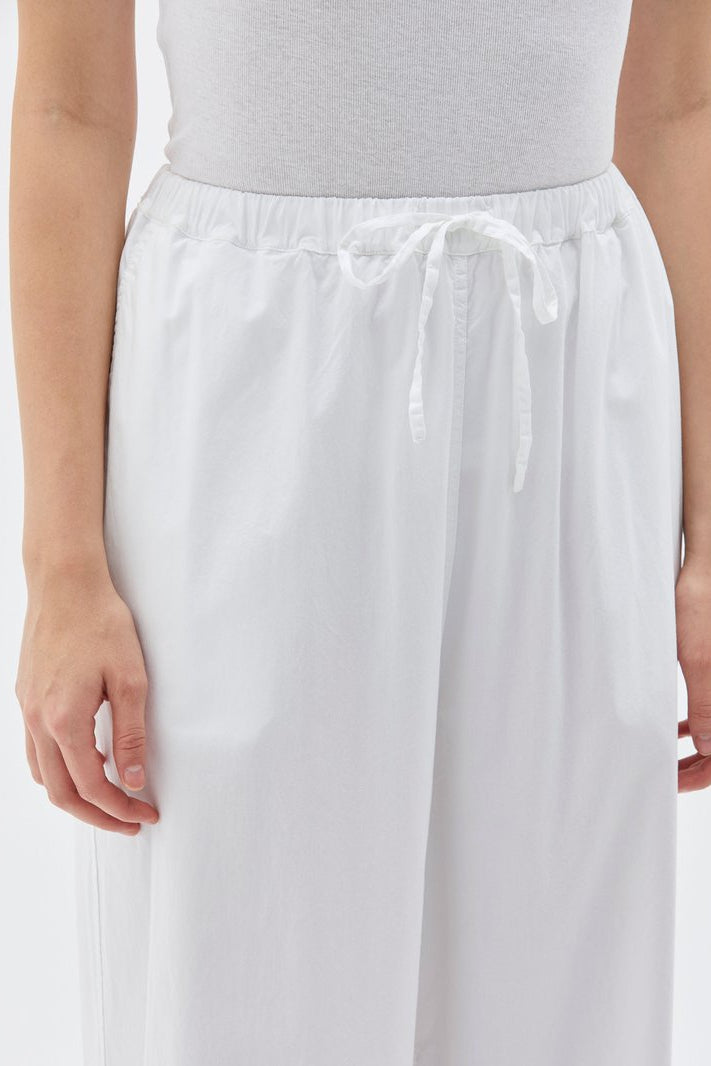 Cotton Drawstring Pant White