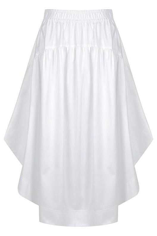 Gathered Circle Skirt Ivory