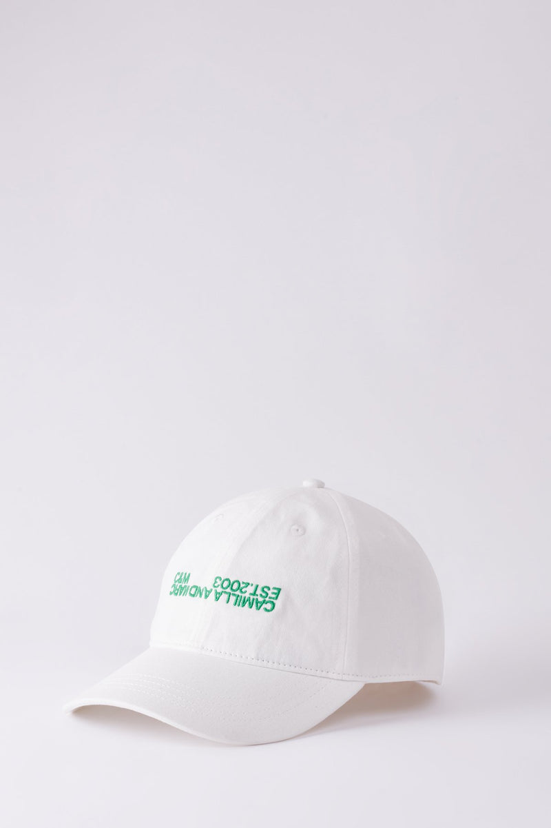 Jordan Cap Warm White w/ Emerald