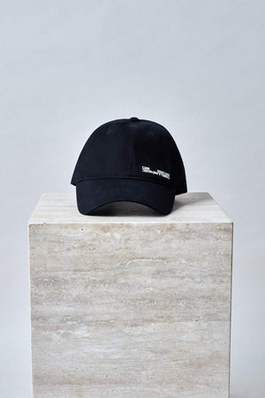 James Cap Black w/ White Print