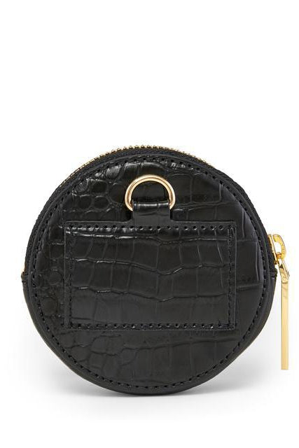 Noir Croco Full Circle Pouch