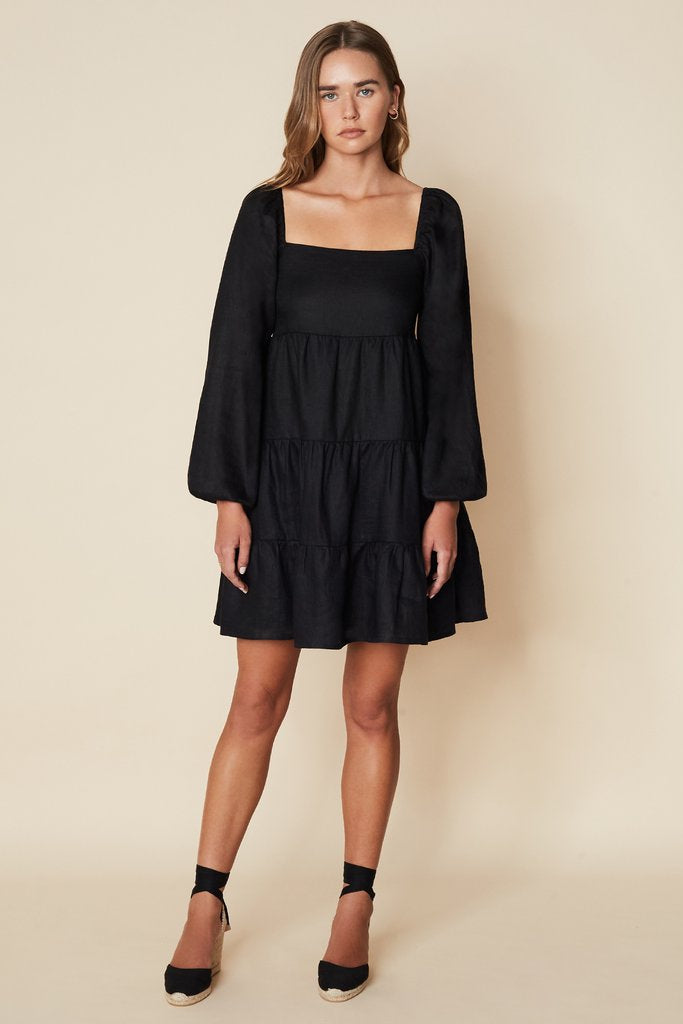Morissa Mini Dress Plain Black