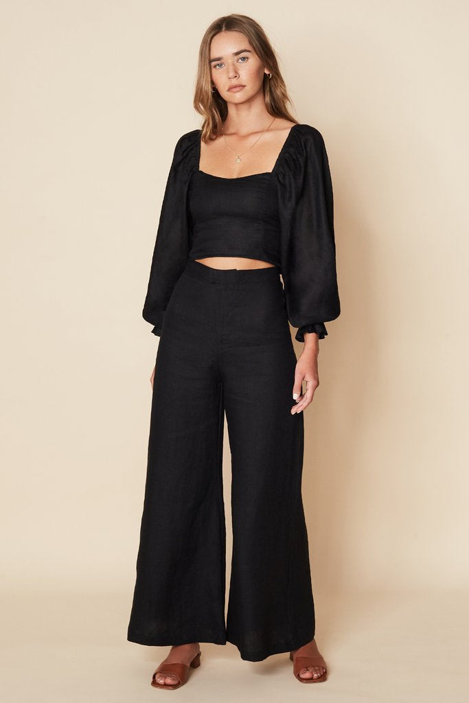 Duda Pants Plain Black