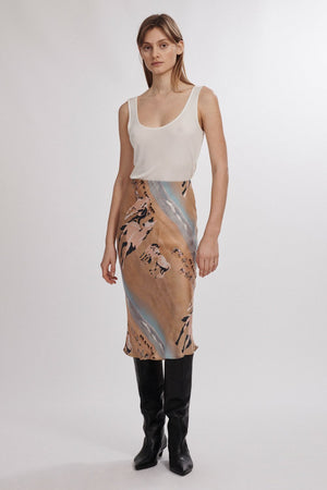Bias Cut Skirt Horses