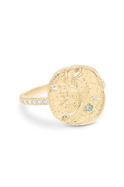 Gold Goddess of Water Ring