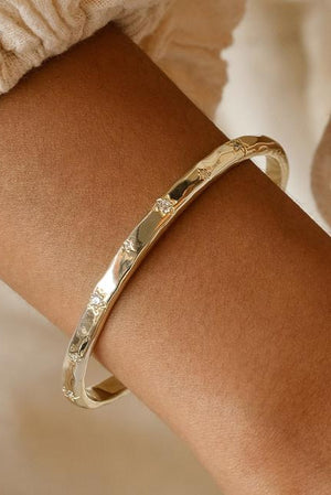 Gold Align Your Soul Cuff