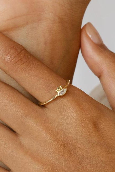 Gold Trust Your Intuition Ring