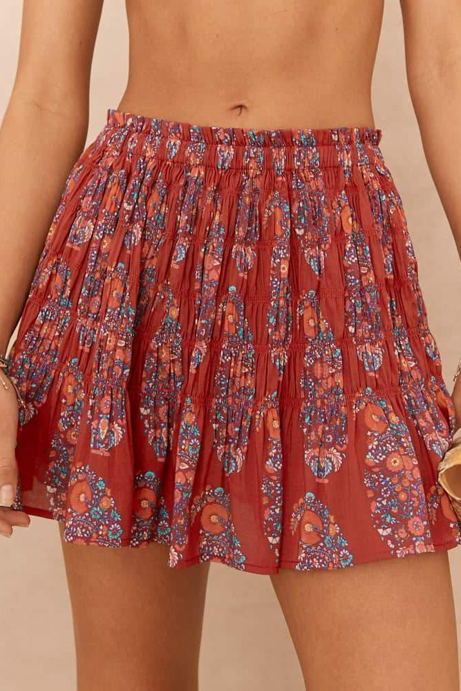 Philomena Shirred Skirt