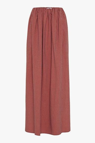 Vega Check Midi Skirt Pink/Brown