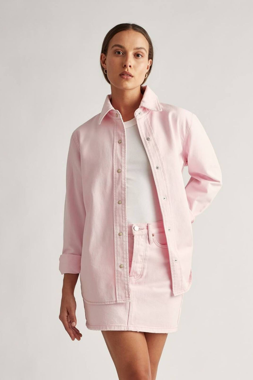 Billy Denim Shirt Ice Pink