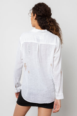 Charli Top White Lightning Embroidery