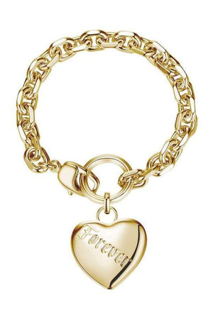 Love Forever Tattoo Heart Bracelet Gold