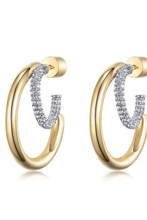 Gold Paradise City Double Hoops Topaz